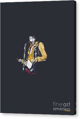 Jimi At Monterey 1 Canvas Print by Martin Howard