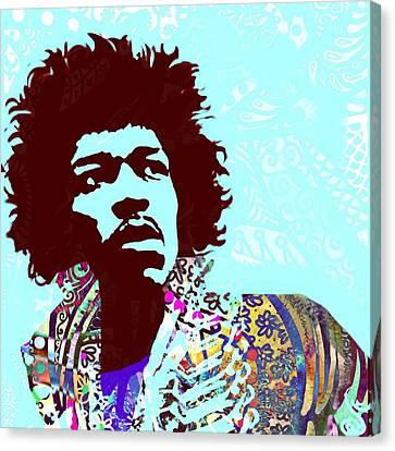 Jimi Canvas Print by Cindy Edwards