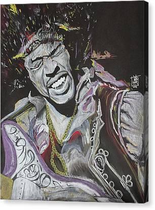 Jimi Canvas Print by DMo Herr