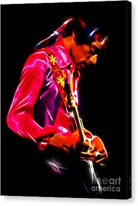 Jimi Hendrix 1 Canvas Print by Paul Green