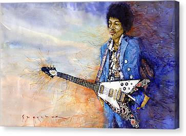 Jimi Hendrix 10 Canvas Print by Yuriy Shevchuk