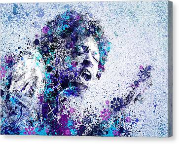 Abstract Digital Canvas Print - Jimi Hendrix 2 by Bekim Art
