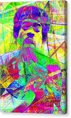 Rolling Stone Canvas Print - Jimi Hendrix 20130613 by Wingsdomain Art and Photography