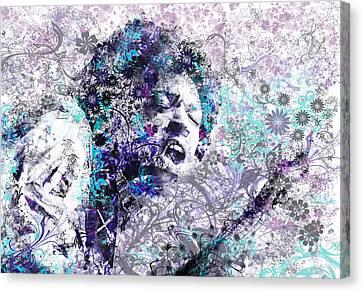 Abstract Digital Canvas Print - Jimi Hendrix 3 by Bekim Art