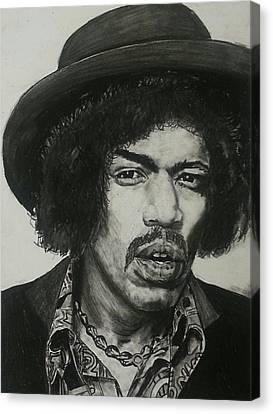 Jimi Hendrix Canvas Print by Aaron Balderas