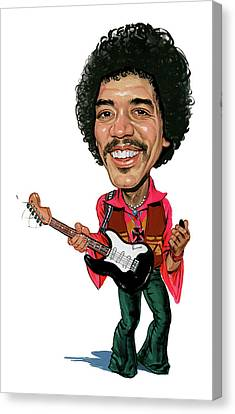 Jimi Hendrix Canvas Print by Art