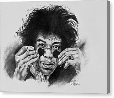 Jimi Hendrix Canvas Print by Art Imago