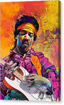 Jimi Hendrix #1 Canvas Print by Ruben Furio