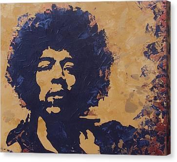 Jimi Hendrix Canvas Print by David Shannon