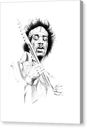 Jimi Hendrix Canvas Print by Gordon Van Dusen