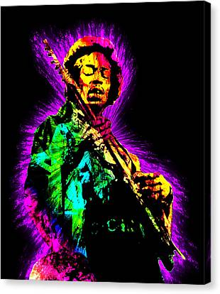 Jimi Hendrix Canvas Print by Michael Lee