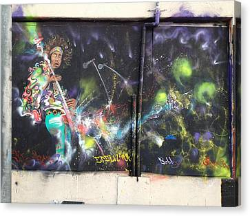 Jimi Hendrix Mural Canvas Print by Erik Franco
