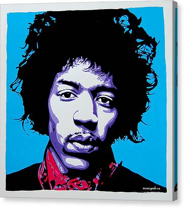 Jimi Hendrix Canvas Print by Nancy Mergybrower