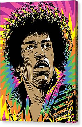 Jimi Hendrix Pop Art Canvas Print by Jim Zahniser