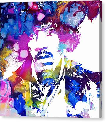 Jimi Hendrix - Psychedelic Canvas Print by Doc Braham