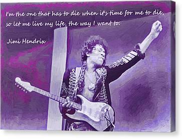 Jimi Hendrix Purp Canvas Print by Robert Rhoads