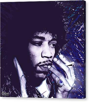 Jimi Hendrix Purple Haze  Canvas Print by Tony Rubino