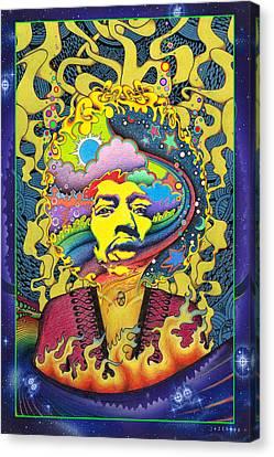 Jimi Hendrix Rainbow King Canvas Print by Jeff Hopp