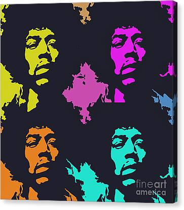 Jimi Hendrix Canvas Print by Ryszard Sleczka