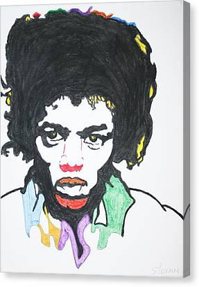Canvas Print featuring the painting Jimi Hendrix by Stormm Bradshaw