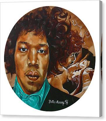 Jimi Hendrix W Canvas Print