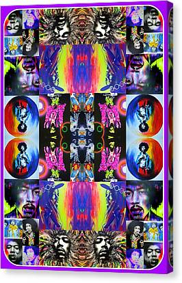 Jimi Hendrix - ' Jimi Kaleidoscope I ' Canvas Print by Christian Chapman Art