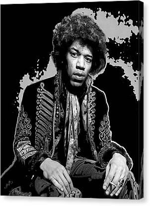 Jimmy Hendrix Canvas Print - Jimi Pop Art by Daniel Hagerman