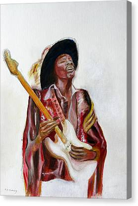 Jimi Canvas Print by Tom Conway