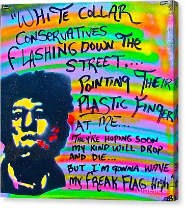 Jimi's Freak Flag Canvas Print by Tony B Conscious