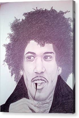 Jimmi Hendrix Canvas Print by Aileen Carruthers
