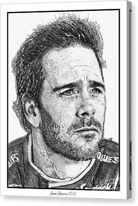Jimmie Johnson In 2012 Canvas Print