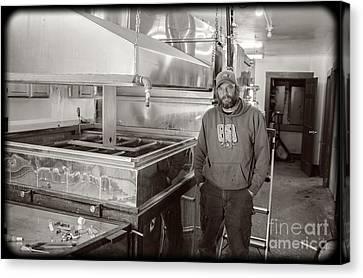 Jimmy At Mt Cube Sugar Farm Canvas Print by Edward Fielding