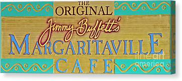 Jimmy Buffetts Key West Margaritaville Cafe Sign The Original Canvas Print