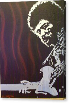 Canvas Print featuring the painting Jimmy Has Soul by Dan Wagner
