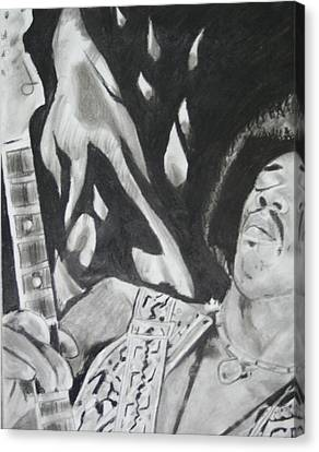 Jimmy Hendrix Canvas Print by Aaron Balderas