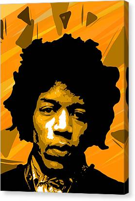 Jimmy Hendrix Canvas Print by Bollmann Benjamin