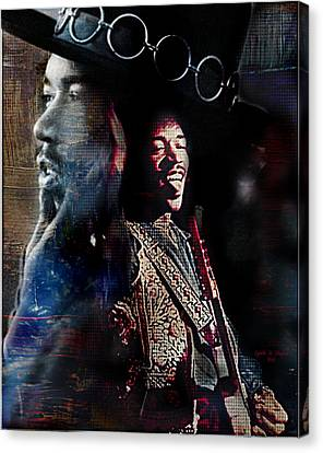 Jimmy Hendrix Canvas Print by Lynda Payton
