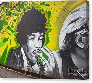 Jimmy Hendrix Mural Canvas Print by Chris Dutton