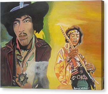 Jimmy Hendrix Canvas Print by Patrick Hunt