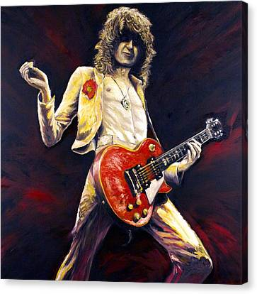 Jimmy Page Achilles Last Stand Canvas Print by Mike Underwood