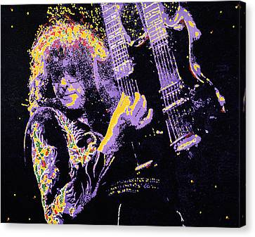 Jimmy Page Canvas Print by Barry Novis