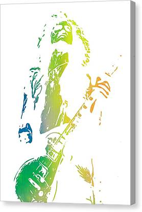 Robert Plant Canvas Print - Jimmy Page by Dan Sproul