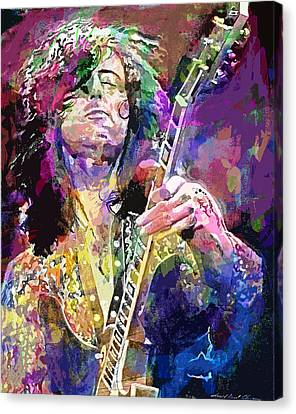 Jimmy Page Electric Canvas Print by David Lloyd Glover