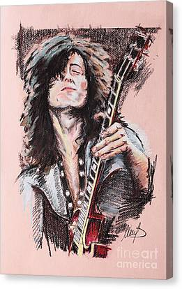 Jimmy Page Canvas Print by Melanie D