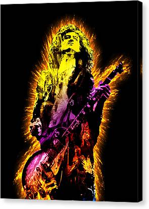 Jimmy Page Canvas Print by Michael Lee