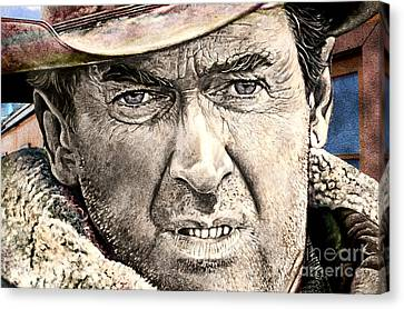 Popular Canvas Print - Jimmy Stewart  by Gary Keesler