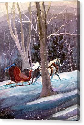 Jingle Bells A Canvas Print by Gretchen Allen