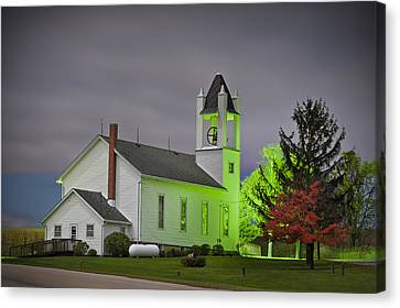 Jo Daviess County Church Canvas Print by Tom Phelan