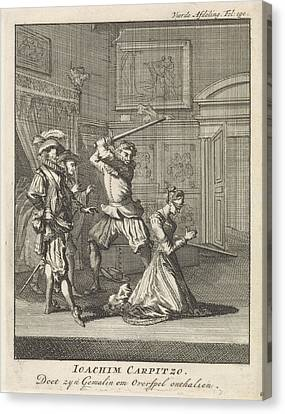 Joachim Von Carpzov Recommends The Beheading Of His Wife Canvas Print