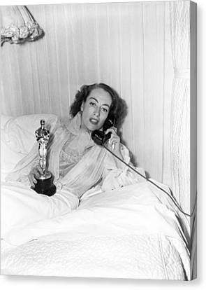 Joan Crawford - Academy Award Canvas Print by Silver Screen